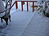 Snow on Front deck<br /> Winnipeg Canada