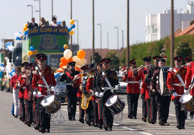 Parade on the sea front Worthing