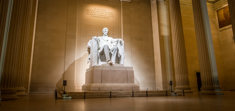 We were lucky enough to have a little alone time with Honest Abe while in DC. Shooting at one in the morning didn't hurt either.
