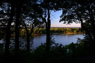 Missouri River Just Before Sunset, Jefferson City, Missouri, 8/22/2017