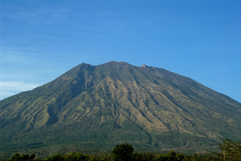 Mt. Agung Volcano, as viewed from Tulamben, Bali, November 2007.