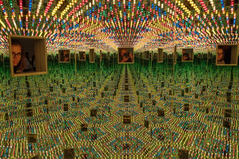 Yayoi Kusama, Infinity Mirrors, at the Cleveland Museum of Art