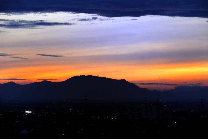 a rarely seen Jakarta sunrise