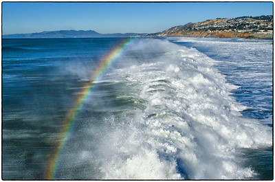 Pacifica Pier Surf Rainbow