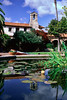 Pond and Steeple - Mission San Juan Capistrano, California