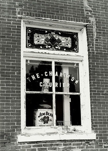 The front window of the Chariton Courier, Keytesville, Missouri.