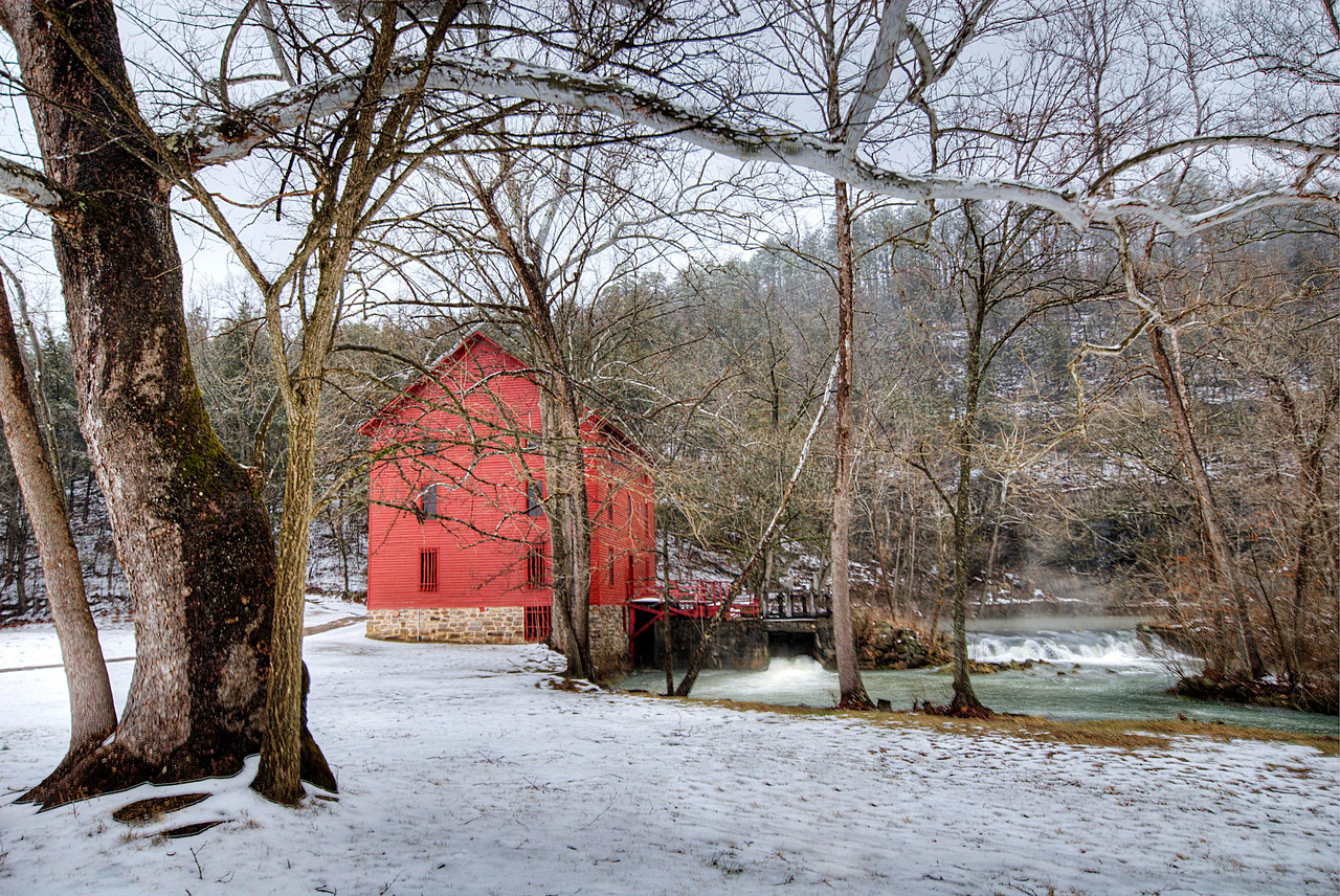 Alley Spring Mill in Winter.