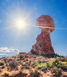 Balanced Rock Midday Sun