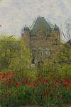 Ontario Legislature wtih Tulips