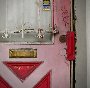 Pink Door Detail