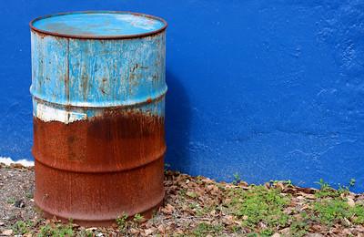 Barrel on Blue