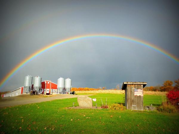 Mom's double rainbow 2012