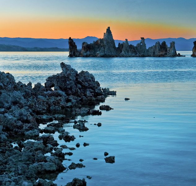 ©ML108  Tufa, water, sunset