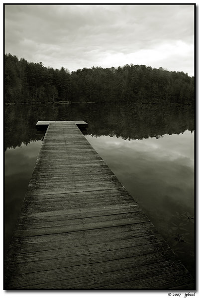 """lake at unicoi state park, georgia.  viewable <a href=""""http://carpelumen.smugmug.com/gallery/2299771/1/123115905/Large"""">in color</a> from the daily photo galleries."""
