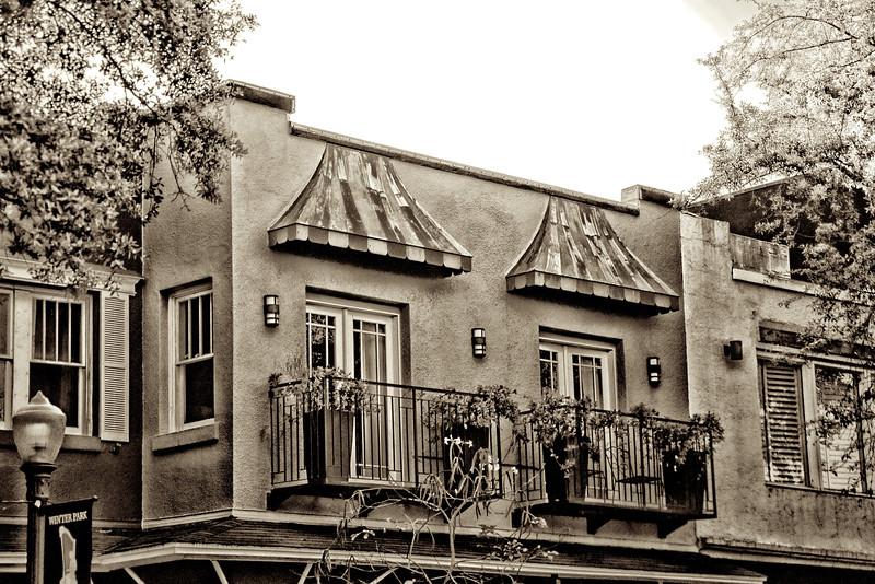 WPP2379  Sepia Balconies