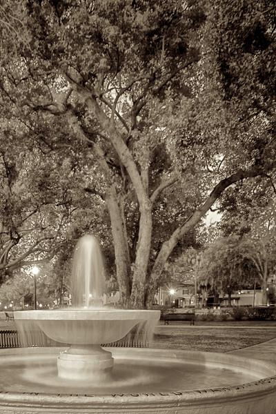 "WPP2011  ""Veteran's Fountain, Central Park"" sepia"