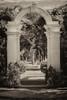 "WPP1589  ""Garden Archway"" in Sepia"