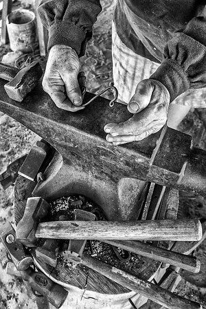 Blacksmith at work - Fort Boonesborough - Kentucky