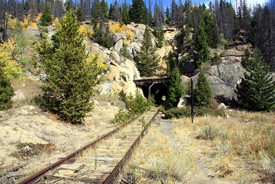 Tunnel over Homestake Pass on abandoned rail above Butte.