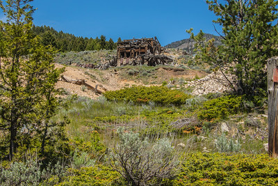 Abandoned silver mine in Elkhorn.