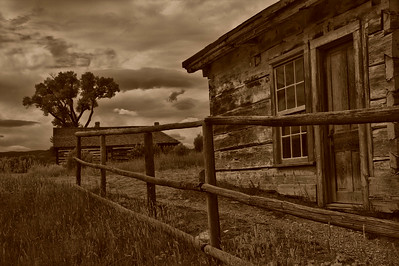 Ghost town of Bannack.