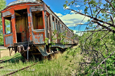 A rail relic in Nevada City.