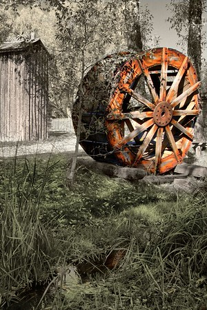 Water wheel  in Nevada City.