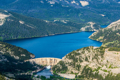 Gibson Dam and reservoir west of Augusta.