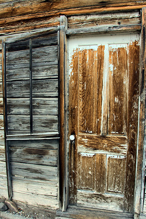 A weathered door to the past in Virginia City.