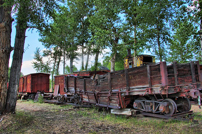 Railroad workhorses past their prime in Nevada City.
