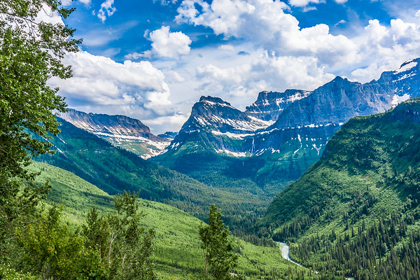 Mount Oberlin in Glacier National Park.