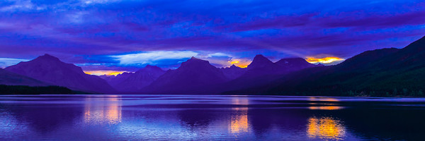 A September sunrise over Lake McDonald