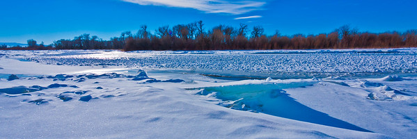Ice flows on the Madison River