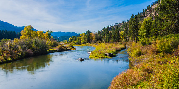 Clark Fork River at Bearmouth.