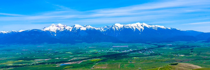 The Mission Mountains.