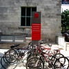 Parking your bike at MaGill University in Monetreal, Canada