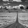 Looking South toward Monument Valley by milepost 13