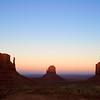 West Mitten, East Mitten, and Merrick Butte at sunset