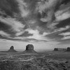 Monument Valley black and white overview