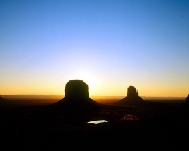 Merrick Butte and East Mitten, Monument Valley, Navajo Tribal Park