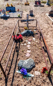 Enclosed in death.  Cemetery at Albuquerque, New Mexico.