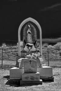 Cemetery at Albuquerque, New Mexico in Infrared.