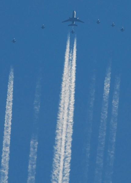 767 Tanker Refueling Fighters over Wichita, Ks. 02/08