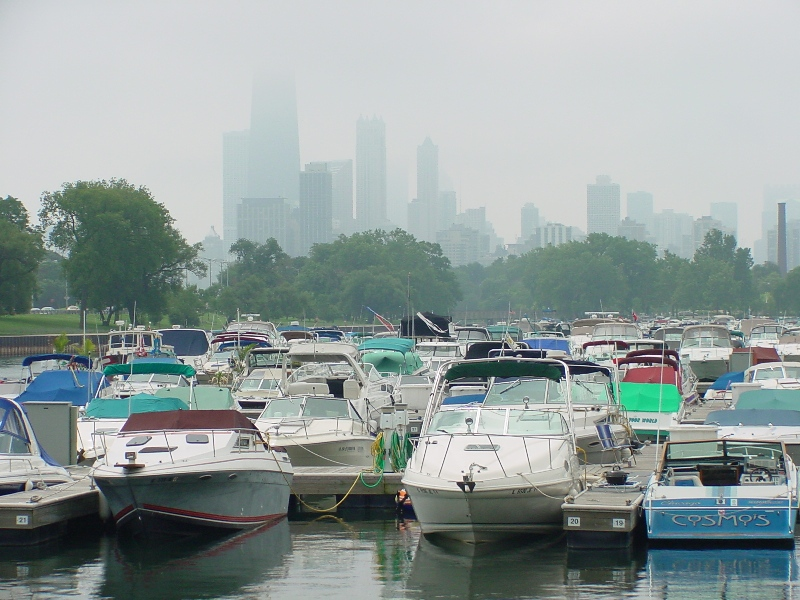 A Marina near downtown Chicago