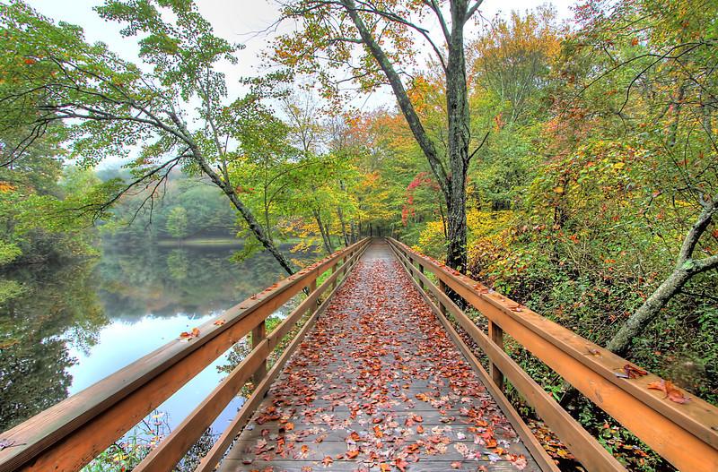 Wolfe Park Bridge View <br /> Monroe, CT<br /> Image#:7387