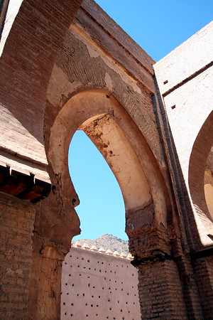Arches below Atlas Mountains - Almohad Dynasty Mosque, Tinmal