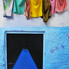 Everywhere you look in Chefchaouen amazing colours abound.