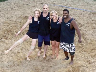 Rose, Doug, Kerri and Keith...Team Zebra