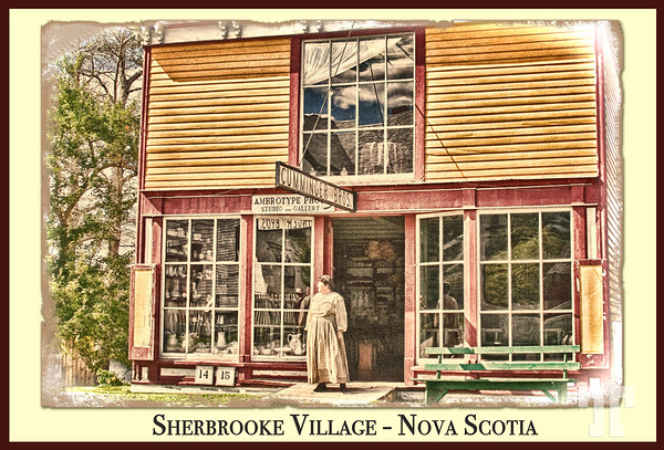 """Postcard of <a href=""""http://www.travelways.com/PicturesofCanada/Pictures-of-Nova-Scotia/Sherbrook-pioneer-village/6608149_SFJDGk#!i=2431380125&amp;k=gWCxWgX"""" target=""""_blank"""">Sherbrooke Village</a>, Nova Scotia  (ZZ)"""