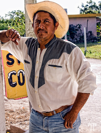 5 Feb. 09<br /> <br /> Tex-Mex<br /> <br /> Because of the bad Internet connection I'm not only one day late, but also late for today...<br /> <br /> This is actually a tour guide I met who accepted to pose for me in front of a<br /> convenience store in a small village of Cozumel islandmexican lifestyleCozumel, Mexico